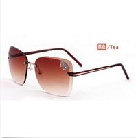 Wholesale New Sunglasses Fashion Women Glasses Butterflies Frameless Polarized Sunglasses