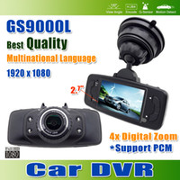 Wholesale Full HD GS9000L Car DVR Video Registrator GS9000L Car Black Box Degree Lens Inch LCD Display G Sensor Digital Zoom