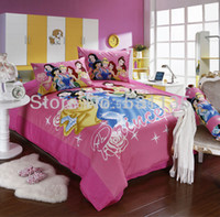 Wholesale Pink Mickey Minnie Mouse Series Cartoon bedding set pc Duvet Quilt bedclothes Pillowcase Cover king queen full twin size cotton