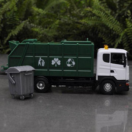 Wholesale 1 SCANIA GARBAGE TRUCK VEHICLE Diecast MODEL DUSTCART Green