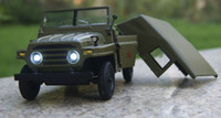 diecast models - 1 Beijing Jeep BJ212 Super Diecast Car Model Sound Light Green