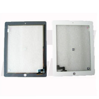 Wholesale 1pc Sample Order For iPad Touch Screen Glass Digitizer Assembly With M Adhesive Glue Sticker Home Button Camera Bracket free DHL