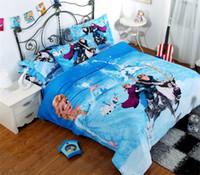 Wholesale Crazy Selling SET Craze Frozen Bedding Set Linen with Organic Cotton freeshipping