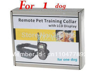 Wholesale 1pcs LCD LV M Pet Dog Training E Collar Shock Remote Control Anti Bark