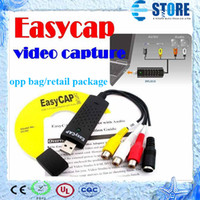 Wholesale Hot Sale VHS to DVD Converter Adapter VIDEO CAPTURE CARD Easycap USB Video TV DVD VHS Capture Adapter For Win7 XP Free DHL wu