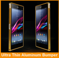 Cheap 10pcs lot Cellphone Case Aluminum Alloy Metal Frame Bumper Case for Sony Xperia Z XL39H Free Shipping