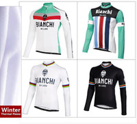 Wholesale color Supply bianchi Cycling Thermal Fleece Long Sleeve Jersey only winter bike clothing Ciclismo winter sweatshirt