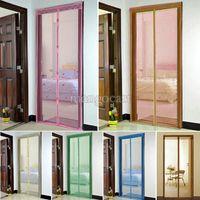 Wholesale Good Quality magnetic mosquito door curtain Portiere Screen Door Magnetic Magnet Stripe Magic Door mesh Curtain B16 SV004341