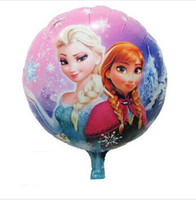 Wholesale 10pcs Frozen bubble balloons new Frozen balloons party decoration foil balloons cmx45cm