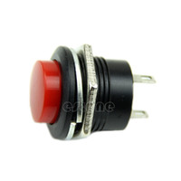 Cheap New Momentary SPST NO Red Round Cap Push Button Switch AC 3A 250V+Free Shipping