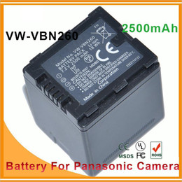 Wholesale 2500MAH Camera Battery VW VBN260 VBN260 for PANASONIC VW VBN130 VW VBN130 VW VBN390 VW VBN390 HC X920M TM900 SD800 HS900 SD900