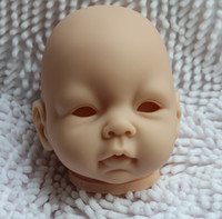 reborn baby doll - Reborn Baby doll kits very soft Silicone Vinyl head arms legs for quot newborn dolls kit Accessories