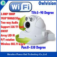 Wholesale Mini MP P HD CCTV Wireless PTZ Dome IP Camera ONVIF Pan Tilt Rotation Two way Audio TF SD Card Indoor Day Night ip cam