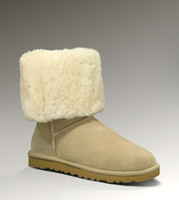 Wholesale Snow boots Australia classic tall waterproof cowhide genuine leather snow boots warm shoes for women