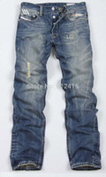 austin jeans - Austin Leisure Mens Casual pants BUTTON fly Straight Cotton Men Jeans Denim Pants