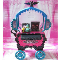 Wholesale T0310 Monster High Plastic Travel Accessories Table Chair Bench Umbrella Toy Furniture Brand New Hot Sale