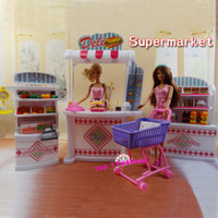 Wholesale New arrival Children girl gift play toy doll house Super Market furniture for BJD simba lica barbie doll