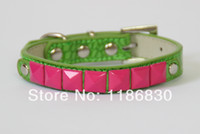 bead supplies retail - Green The new square bead accessories crocodile dog collar collar pet supplies retail