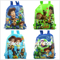 Wholesale toy story Kids Cartoon Drawstring Backpack School Bags Handbags shopping bag party favor