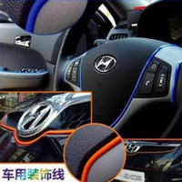 car parts - 1 Pack Meters Decorative Thread Sticker Indoor Pater Car Body Decals Tags Car Stickers Products Parts Accessory
