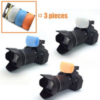 Wholesale 1 Set Tracking Number New Color Pop up Flash Diffuser with one Bracket for Digital Cameras