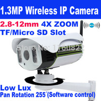 Wholesale New P mm X Zoom Wireless Wifi IP Camera outdoor with TF Micro SD Slot Two Way Audio Pan Rotation Array IR Night M