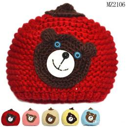 Wholesale Hot Sale New Baby Girl bear crochet beanie Cap Outdoor Sports Golf Tennis Hiking Ball Cap Hat