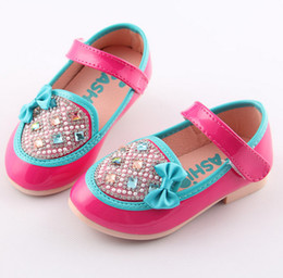 Wholesale 2014 Summer New Arrival Shoes Size Children Girls Fashional Leisure Rhinestone Velcro Korean Kid s Bow Sandals Princess Shoe A1067