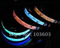 beer dog collars - LED Beer Bear luminous pet dog collar nylon webbing fiber optic flashing dog necklace S M L XL