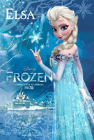 Wholesale Hot sale Frozen Princess Elsa dresses real images shining sequins court train long sleeves girl s pageant dresses ready in stock sizes