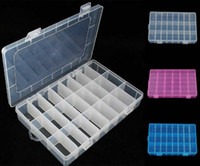 Wholesale 1PCS Sundries Assort Collect Box Components Storage Plastic box grid collection box