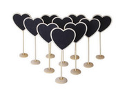 Wholesale 10pcs Mini Heart shaped Blackboard Party Favors Decoration Wedding Party Table Numbers Place Card Favor Tag Plant Marker Candy Buffets Chalk