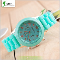 designer watches men - Geneva Unisex Quartz watch New Designer sports brand silicone watch jelly watch quartz watch for women men