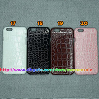 apple zebras - Sparkle Glitter Bing Wave Zebra Snake Croco crocodile Tiger Leather Coating skin Hard plastic back cover case for Iphone g