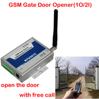 Wholesale GSM Gate Door Opener Operator with SMS Remote Control MHz Output Inputs RTU5015 Remote switching with a FREE call free shippin