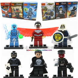 Wholesale The Avengers New Super heros Building Blocks Toys Minifigures assembling toys Justice League superheroes electro optical target eye