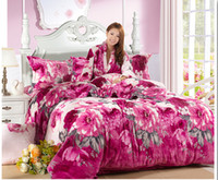 Wholesale Flannel Bedding sets of Home Textile bed set of Winter to keep warn Bed In a Bag with duvet cover pillowcases and flat sheet