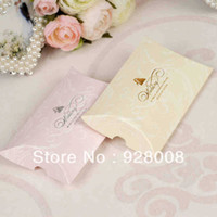 Wholesale New Arrival Pillow Wedding Favor Box Party Candy Box Wedding Gift Boxes Pink Paper Wedding Box