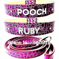 big black dog names - LARGE DOG COLLAR purple brown color for big dog DIY name personalized crocodile cat necklace dog collar pet collar