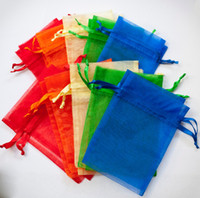 Wholesale Wedding Favor Holders Candy Pouches Organza Bags drawstring Package Bag Wedding Candy Net Bags Gift Bag cm Multi Color