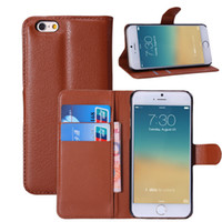 Luxury Litchi Grain Wallet Style PU Leather Phone Case for I...
