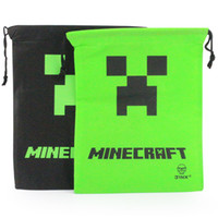 Wholesale Minecraft bag Draw String Bag Gift bag Creeper bags Good Quality cm x cm in stock