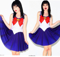Wholesale 10 colors women sexy costumes Hallowmas costume Sailor Moon dress club party stage dresses Digital printing cartoon dress Frozen A789