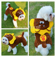 Wholesale New trend winter dog clothes cute lion four feet costume suit big dog cloth all sizes from small to big