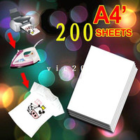 Wholesale 200 X A4 T Shirt Transfer Paper Tshirt Inkjet Iron On Heat x11