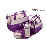 designer baby bag - Durable Diaper Bags Polka Dot SET Diaper Bags for Baby Top Selling Cheap Purple Tote Diaper Bags Best Designer Mother Bags