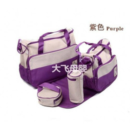 Wholesale Durable Diaper Bags Polka Dot SET Diaper Bags for Baby Top Selling Cheap Purple Tote Diaper Bags Best Designer Mother Bags