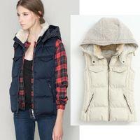 Wholesale 2014 female top coat vest patchwork fur cotton warm parka ladies outwear women plus size padded quilted jacket C3502014 Winter