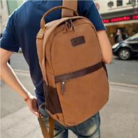Wholesale New Arrival Popular Vintage Canvas Shoulder Bag Big Multifuncion Men Sport Backpacks Outdoor School Bags for Students