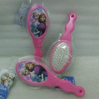 Wholesale 2015 New Arrival frozen Elsa Anna Pattern Baby Girls Hair Brush comb Christmas gift